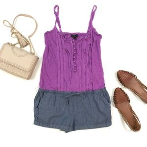 Jessica Simpson Purple Denim Chambray Romper S